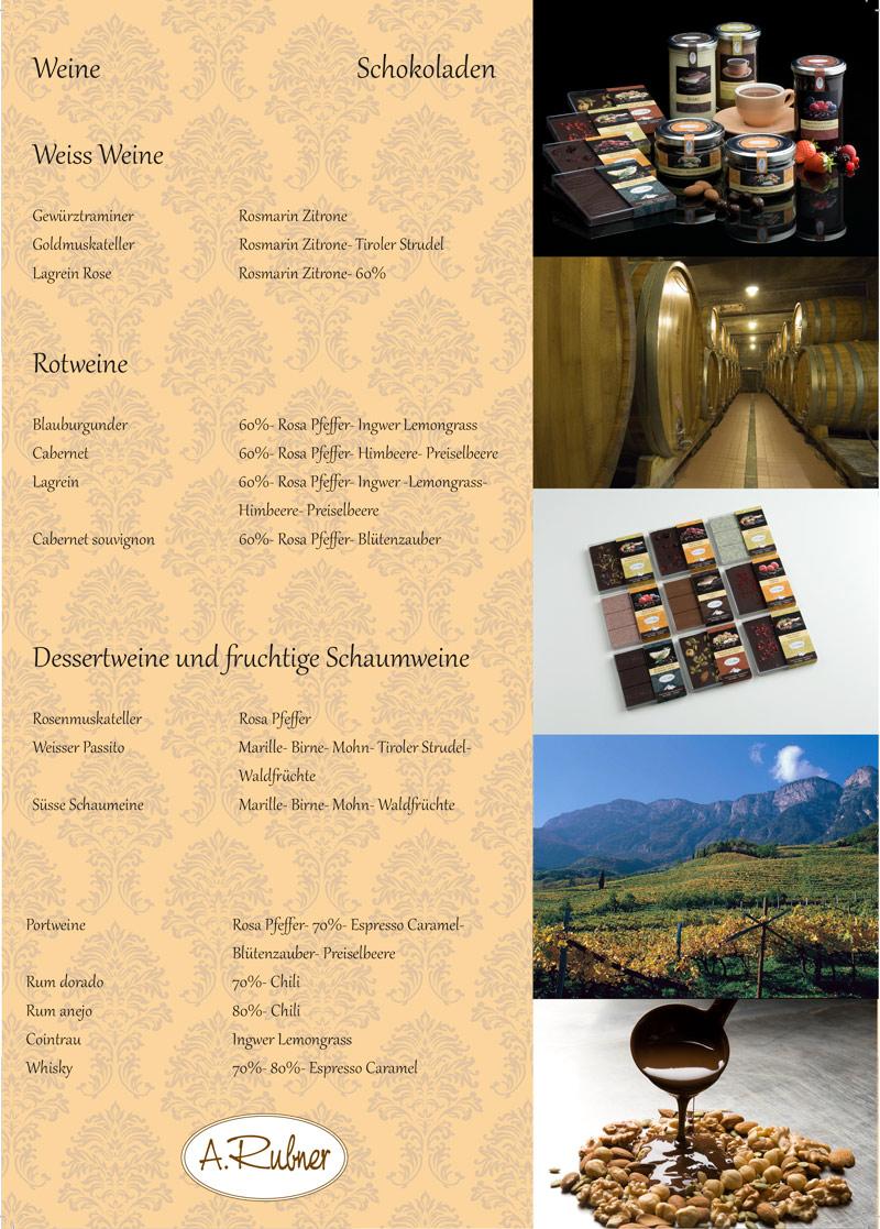Weinkarte-Rubner-Schokoladen